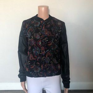 NEW Forever 21 Faux Leather Bomber Jacket